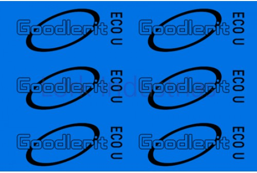 Vezelplaat pakking Type Goodlerit Eco U 0,5 mm dik