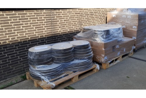 DN 100 (Ø 158 mm) Zelfklevende rubber flensbeschermers (plakschijven)