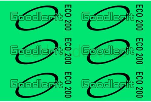Vezelplaat pakking Type Goodlerit Eco 200 0,5 mm dik
